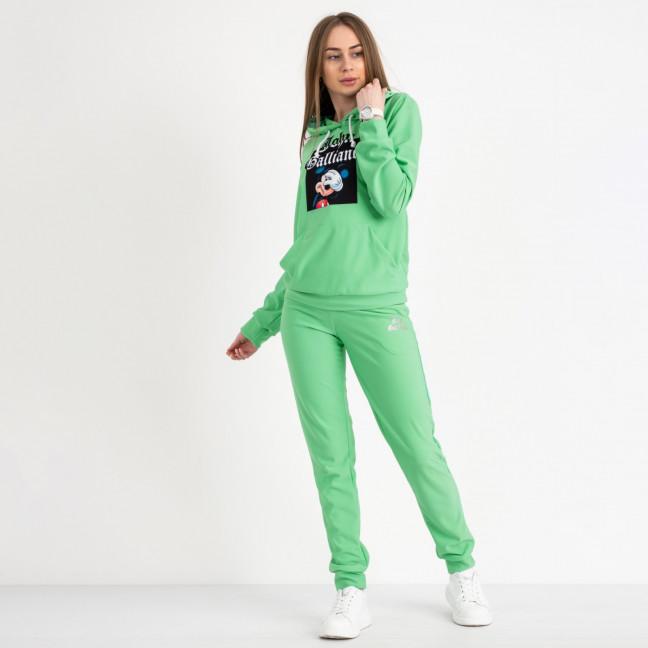 7625-2 салатовый женский спортивный костюм (5 ед. размеры: S.M.L.XL.2XL) Спортивный костюм: артикул 1119919