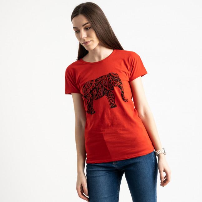 2575-3 красная футболка женская с принтом (3 ед. размеры: S.M.L) Футболка: артикул 1119166