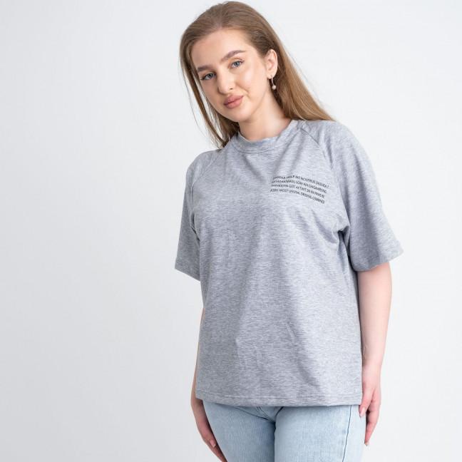 2220-6 Mishely футболка серая женская батальная из двунитки ( 4 ед. размеры: 50.52.54.56) Mishely: артикул 1122670