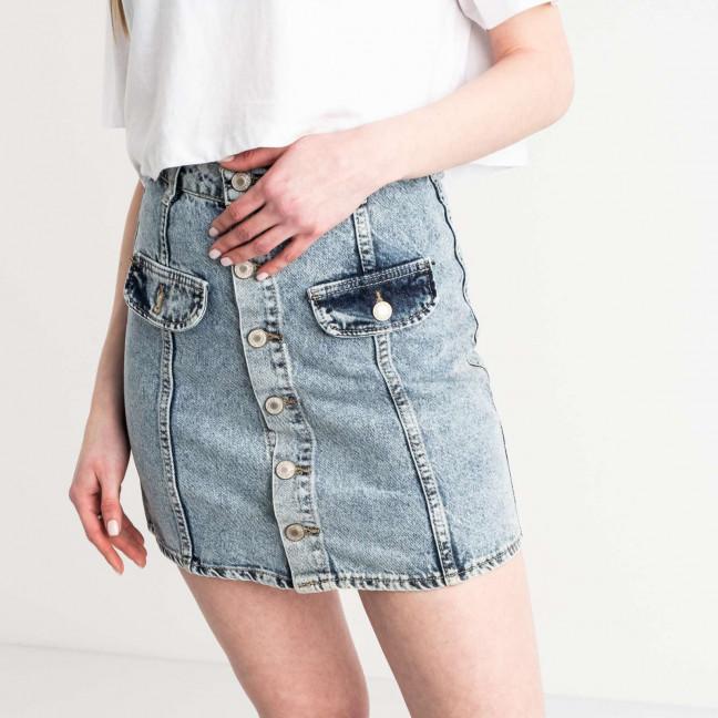 2824-1 XRay юбка джинсовая на пуговицах голубая котоновая (6 ед. размеры: 34.34.36.36.38.40) XRAY: артикул 1118965