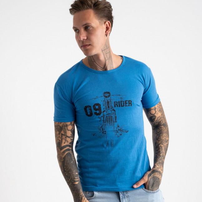 2625-12 голубая футболка мужская с принтом (4 ед. размеры: M.L.XL.2XL) Футболка: артикул 1121086
