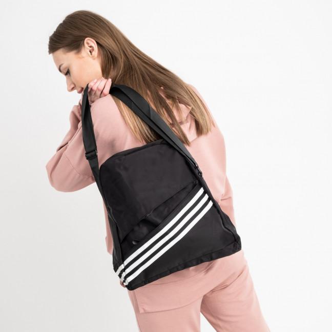 4270-1 черная спортивная сумка женская  (5 ед )  Сумка: артикул 1121132