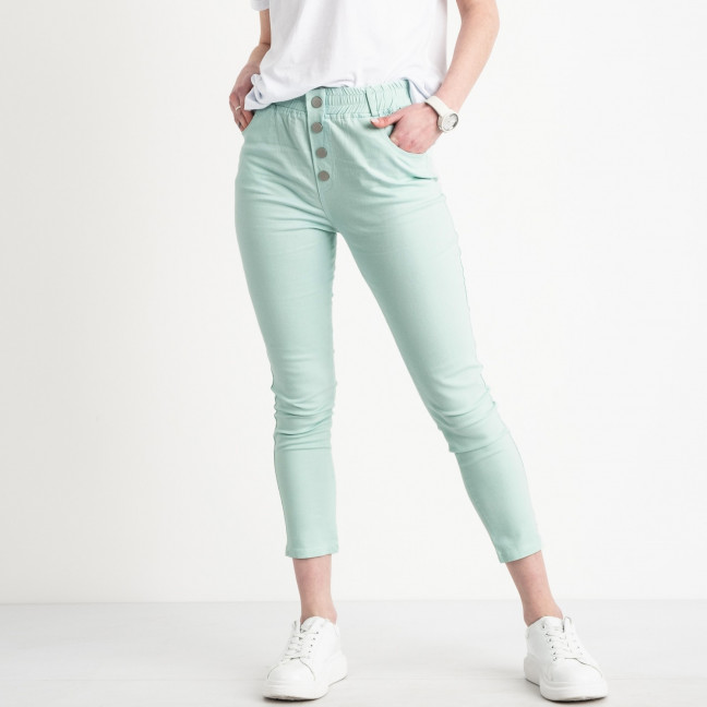 0202-5 Yimeite бирюзовые брюки женские стрейчевые (6 ед. размеры: 25.26.27.28.29.30) Yimeite: артикул 1119617