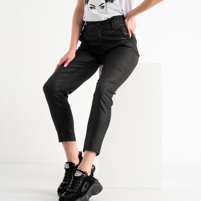 4990 Sasha брюки черные стрейчевые с пропиткой под кожу ( 8 ед. размеры: 26.27.27.28.28.29.30.31) : артикул 1117504