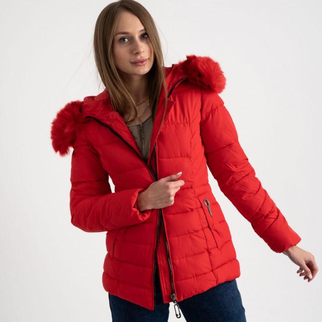 0906-3 красная куртка женская на синтепоне (4 ед. размеры: L.XL.2XL.3XL) Куртка: артикул 1123507