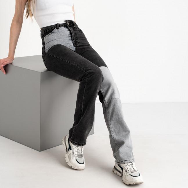 0760 Ponza джинсы двухцветные серые с черным котоновые (7 ед. размеры:34/2.36/2.38/2.40) Ponza: артикул 1122570