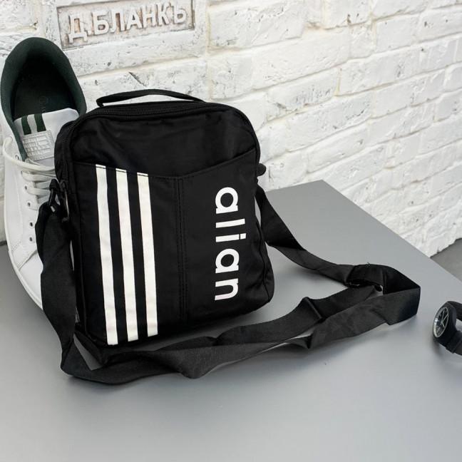 0516 черная сумка мужская наплечная (5 ед.) Сумка: артикул 1121385