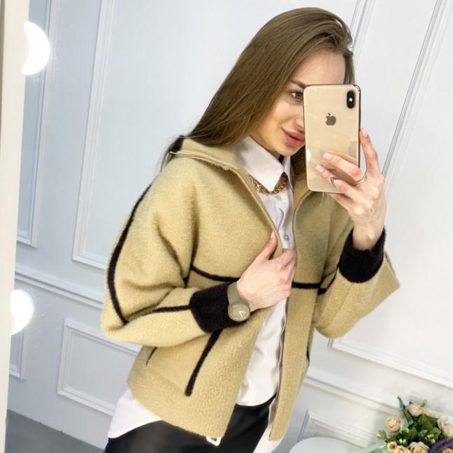 1426-4 бежевая куртка женская из альпаки (1 ед. размер: универсал 42-46) Куртка: артикул 1119913