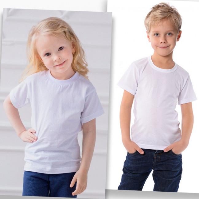 70207-11 футболка детская белая на ребенка от 2-х до 8-ми лет(12 ед. размеры: 92/2.98/2.104/2.110/2.118/2.128/2) Маленьке сонечко: артикул 1123242