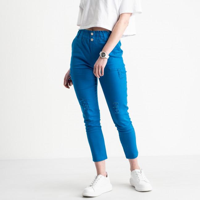 0219-8 Yimeite синие брюки женские стрейчевые (6 ед. размеры: 25.26.27.28.29.30) Yimeite: артикул 1119604