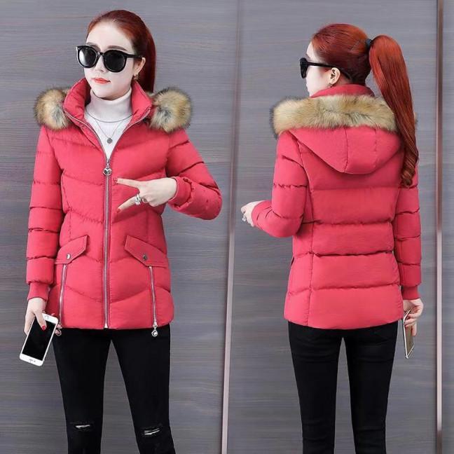 6936-3 куртка красная женская на синтепоне (6 ед. размеры: M.L.2XL/2.3XL.4XL) Куртка: артикул 1125586