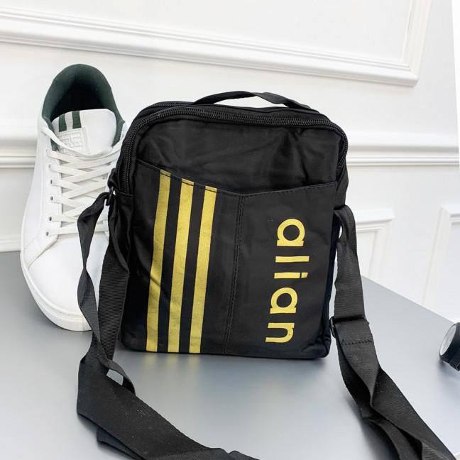 0516-1 черная сумка мужская наплечная (5 ед.) Сумка: артикул 1121382