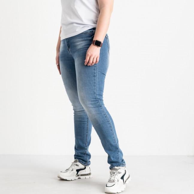 1256 Lady N джинсы батальные женские голубые стрейчевые (6 ед. размеры: 31.32.33.34.36.38) Lady N: артикул 1088395