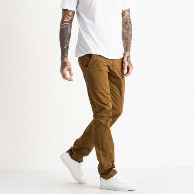 5764 LS брюки мужские желтовато-коричневые стрейчевые (7 ед. размеры: 28.29.30.31.32.33.34) LS: артикул 1119375