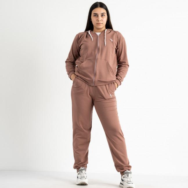 15111-11 Mishely розовый мокко женский спортивный костюм батальный из двунитки (4 ед. размеры: 50.52.54.56) Mishely: артикул 1123362