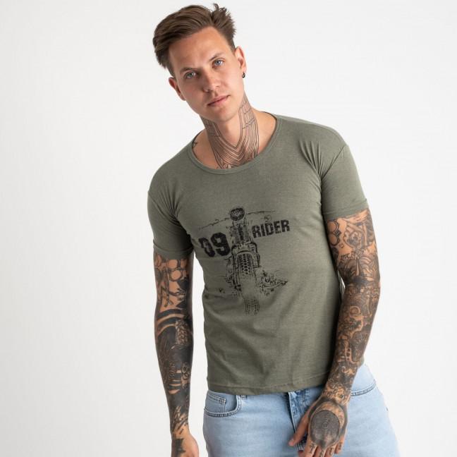 2625-4 хаки футболка мужская с принтом (4 ед. размеры: M.L.XL.2XL) Футболка: артикул 1121085