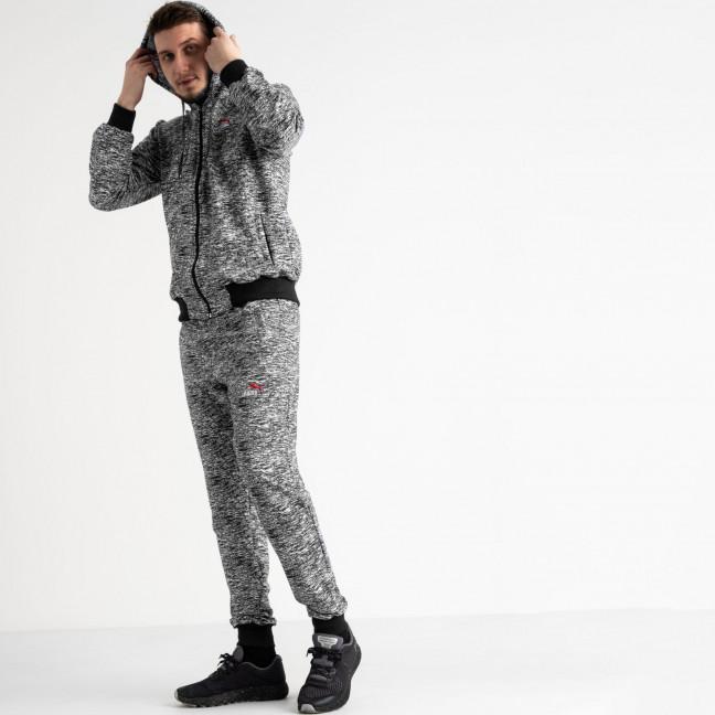 16201-1 черный спортивный костюм из двунитки (4 ед. размеры: 46.48.50.52) Спортивный костюм: артикул 1118583