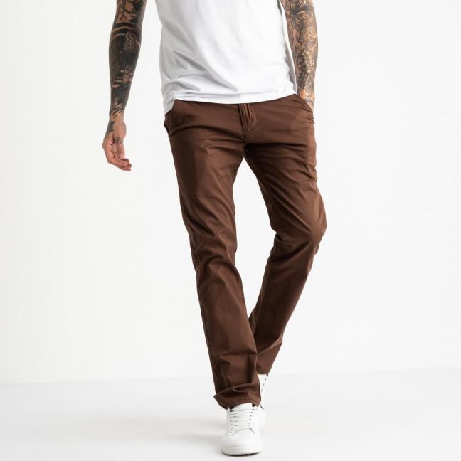 5768 LS брюки мужские темно-коричневые стрейчевые (7 ед. размеры: 28.29.30.31.32.33.34) LS: артикул 1119377
