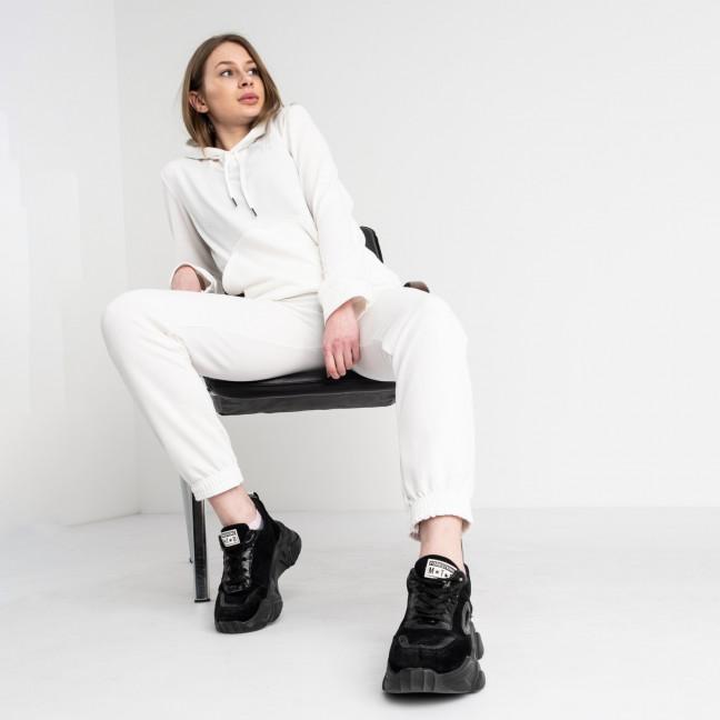 3301-10 белый спортивный костюм женский из двунитки (4 ед. размеры: 46.48.50.52) Спортивный костюм: артикул 1118287