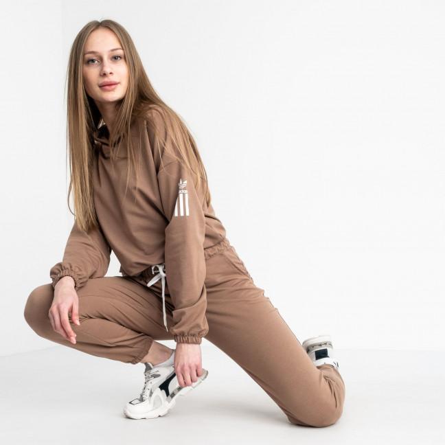 1523-6 Mishely мокко женский спортивный костюм из двунитки (4 ед. размеры: S.M.L.XL) Mishely: артикул 1122174
