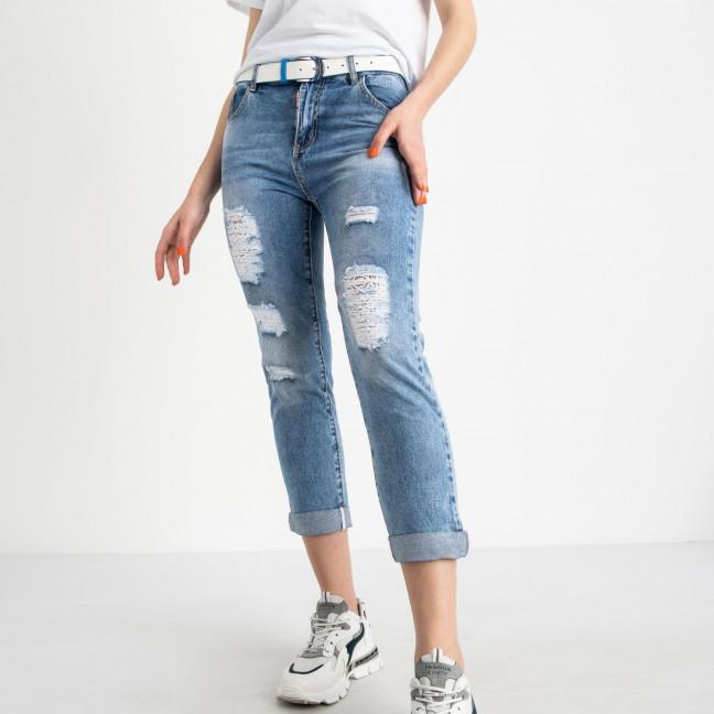 1300 Lady N джинсы полубатальные голубые стрейчевые длина 7/8 (6 ед. размеры: 28.29.30.31.32.33) Lady N: артикул 1120291
