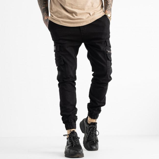 5894 Redman джинсы мужские на резинке черные осенние стрейчевые (8 ед. размеры: 29.30.31.32.32.33.34.36) REDMAN: артикул 1114902