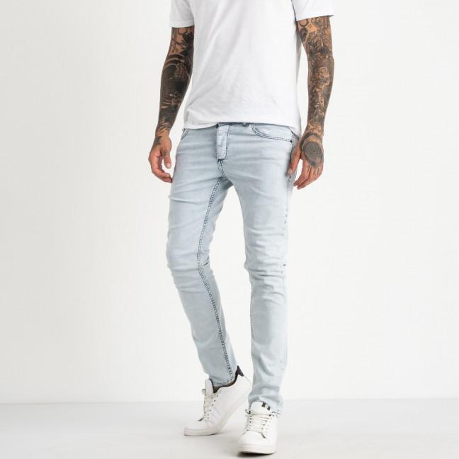 0579 Jack Kevin джинсы светло-голубые мужские стрейчевые ( 8 ед. размеры: 30.31.32.33/2.34.36.38) Jack Kevin: артикул 1121918