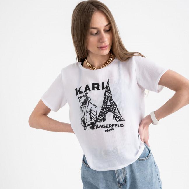 2056-10 футболка белая женская с принтом (5 ед. размеры: 42.44.46.48.50) Футболка: артикул 1122374