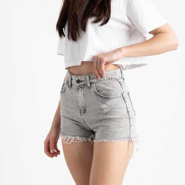 0001-20 Well See серые джинсовые шорты полубатальные котоновые (8 ед. размеры: 28.29/2.30.31.32.33.34) Well see: артикул 1121229
