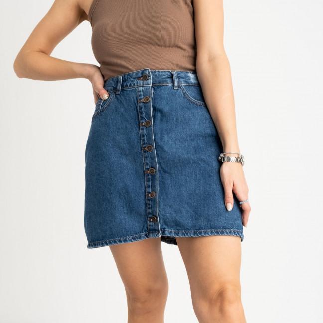 0028-054 Arox юбка полубатальная синяя котоновая (6 ед. размеры: 42.44.46.46.48.50) Arox: артикул 1118549