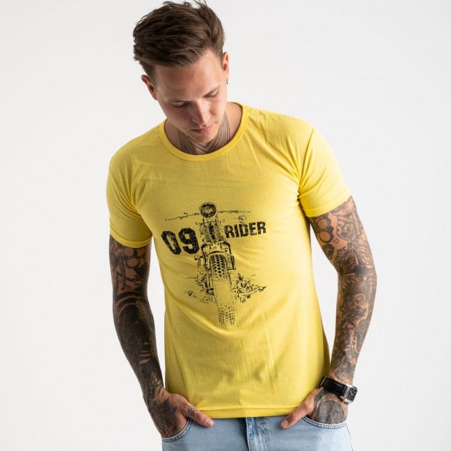 2625-6 желтая футболка мужская с принтом (4 ед. размеры: M.L.XL.2XL) Футболка: артикул 1121081