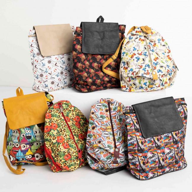 8999-2 цветной рюкзак женский микс 5-ти моделей (5 ед. без выбора моделей) Рюкзак: артикул 1118743