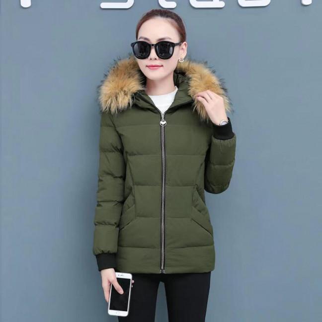 6937-4 куртка хаки женская на синтепоне (6 ед. размеры: M.L.2XL/2.3XL.4XL) Куртка: артикул 1125591