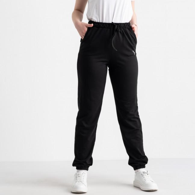 14870-1 Mishely брюки женские батальные спортивные черные стрейчевые (4 ед. размеры: 50.52.54.56) Mishely: артикул 1116999
