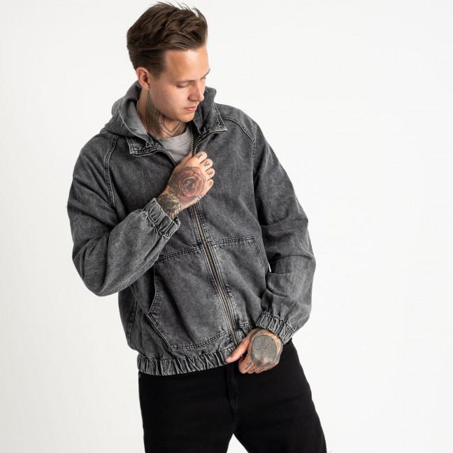 0028-1 In Yesir куртка джинсовая темно-серая котоновая (6 ед. размеры: S.M.L/2.XL.XXL) In Yesir: артикул 1121438