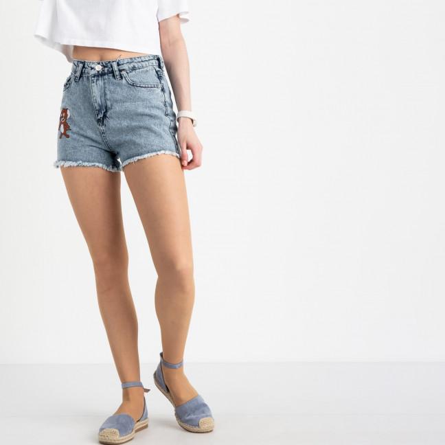 0435-1 Miss Aura шорты голубые котоновые  (9 ед. размеры: 34/3.38.40/3.42.44) Miss Aura: артикул 1121991