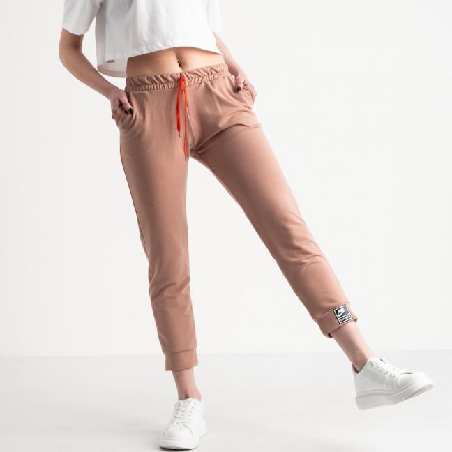 15017 пудра брюки женские спортивные из двунитки (4 ед. размеры: 42.44.46.48) Спортивные штаны: артикул 1118834