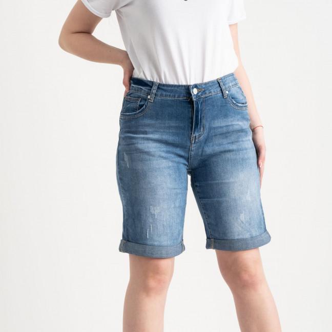 0709 New Jeans шорты батальные голубые стрейчевые (6 ед. размеры: 31.32.33.34.35.36) New Jeans: артикул 1121485