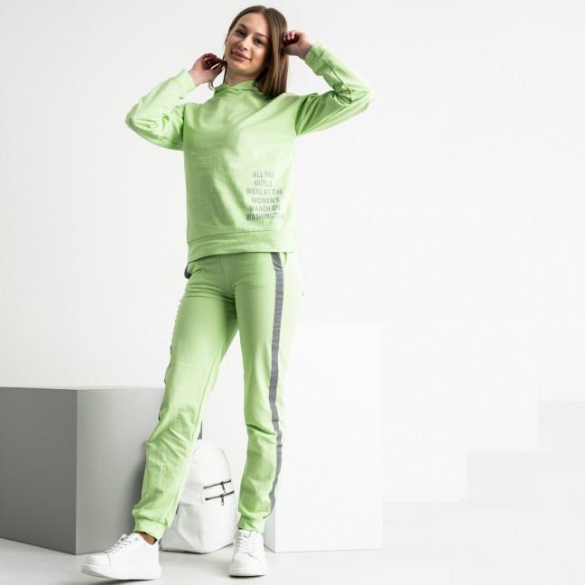 1550-43 салатовый спортивный костюм юниор на девочку из двунитки (4 ед. размеры: 146/4) Спортивный костюм: артикул 1120097