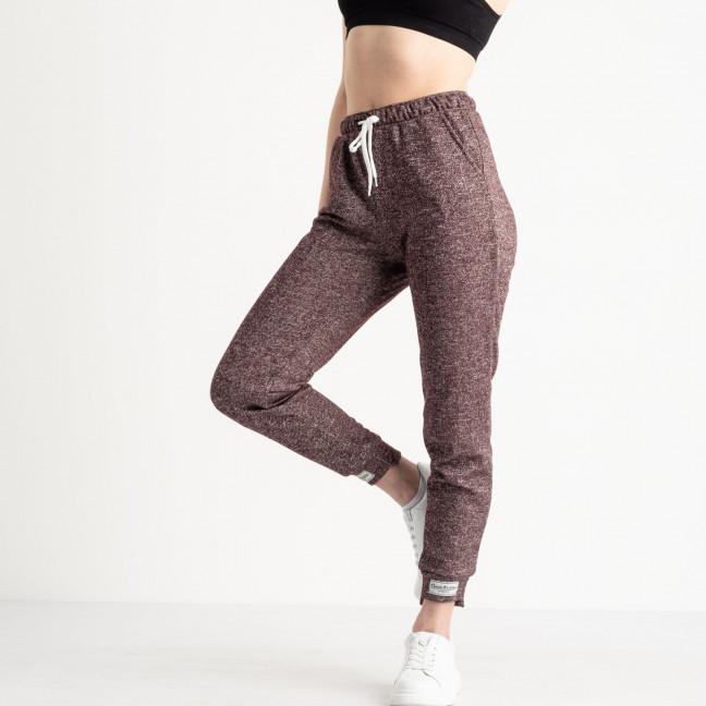 1420-1 бордовые спортивные штаны женские из двунитки (4 ед. размеры: S.M.L.XL) Спортивные штаны: артикул 1119072