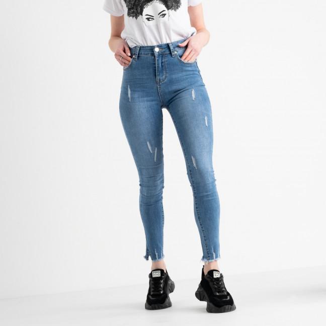 0616 New Jeans американка голубая стрейчевая  (6 ед. размеры: 25.26.27.28.29.30) New Jeans: артикул 1117673