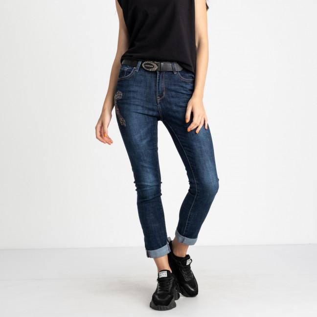 5007 OK&OK джинсы женские синие полубатальные стрейчевые (6 ед. размеры: 25.26.27.28.29.30) OKOK: артикул 1123467