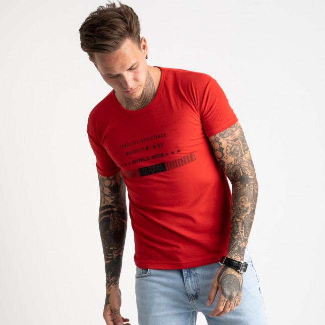 2619-3 красная футболка мужская с принтом (4 ед. размеры: M.L.XL.2XL) Футболка: артикул 1121045