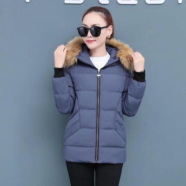 6937-2 куртка голубая женская на синтепоне (6 ед. размеры: M.L.2XL/2.3XL.4XL) Куртка: артикул 1125589