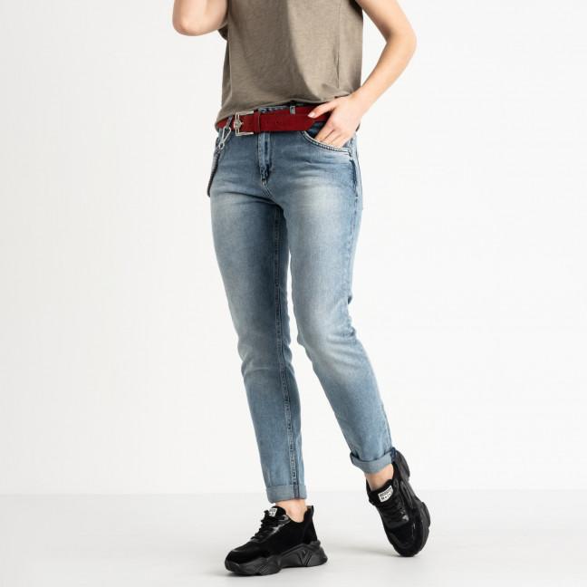 2229-B-7031 A.N.G джинсы полубатальные женские  голубые стрейчевые (7 ед. размеры: 28.29.30.31.31.32.33) A.N.G.: артикул 1118817