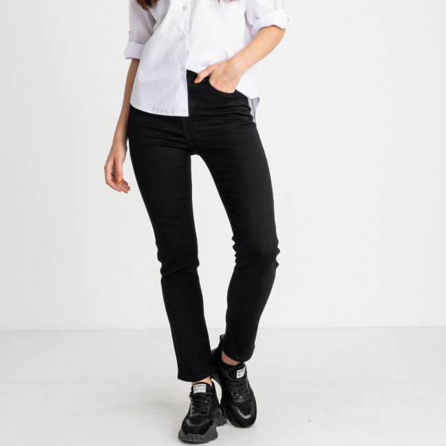 5056 New Jeans американка полубатальная черная стрейчевая (6 ед. размеры: 28.29.30.31.32.33) New Jeans: артикул 1123638