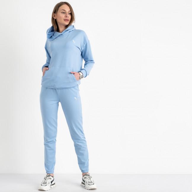 15222-10 Mishely голубой женский спортивный костюм из двунитки (4 ед. размеры: S.M.L.XL) Mishely: артикул 1121627