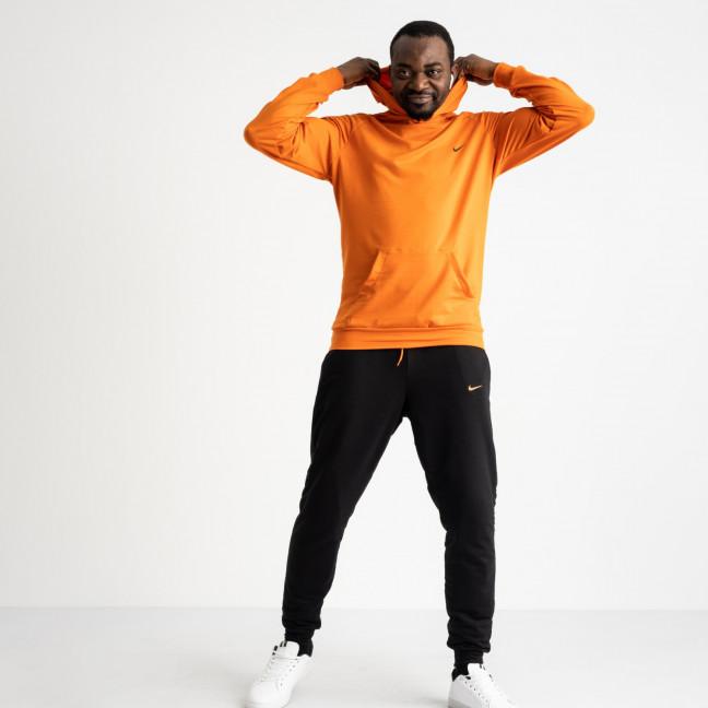 16219-2 оранжевый спортивный костюм мужской из двунитки (4 ед. размеры: M.L.XL.2XL) Спортивный костюм: артикул 1118832