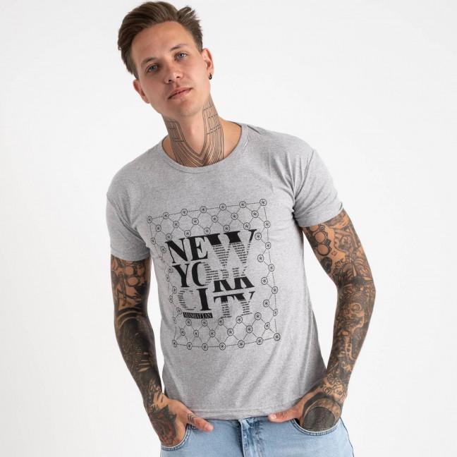 2624-5 серая футболка мужская с принтом (4 ед. размеры: M.L.XL.2XL) Футболка: артикул 1121076