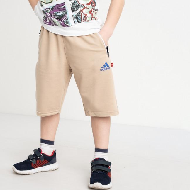 1652 шорты детские на мальчика 6-10 лет бежевые трикотажные (5 ед. размеры: 40.42.44.46.48) Шорты: артикул 1120449